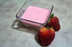 Postre de Mousse de Fresa Light